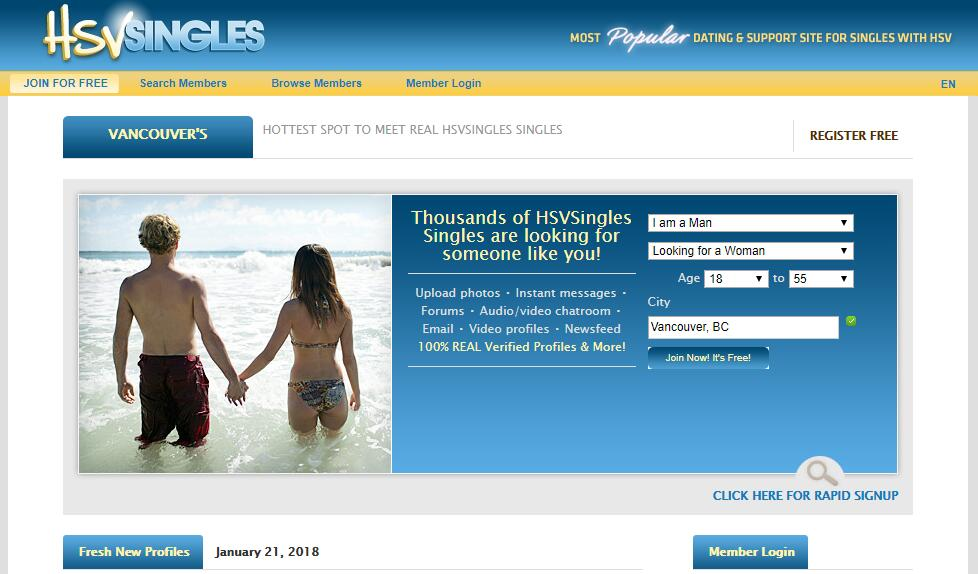 Free Dating Site For Singles With Herpes